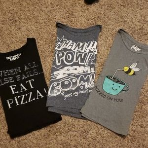 Set of Three Cropped T-Shirts